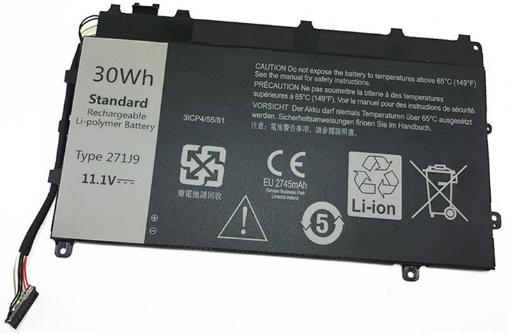 Battery for Dell 0GWV47 laptop