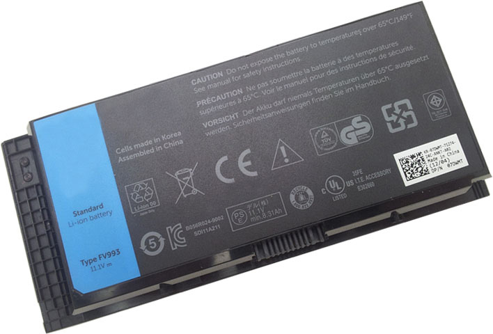 Battery for Dell 0FVWT4 laptop
