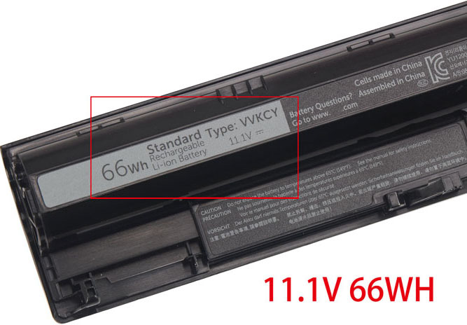 battery for Dell VVKCY laptop,66Wh replacement Dell VVKCY